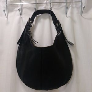 Black leather handbag from Banana Republic